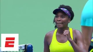 2018 US Open highlights: Venus Williams advances from first round in three sets | ESPN