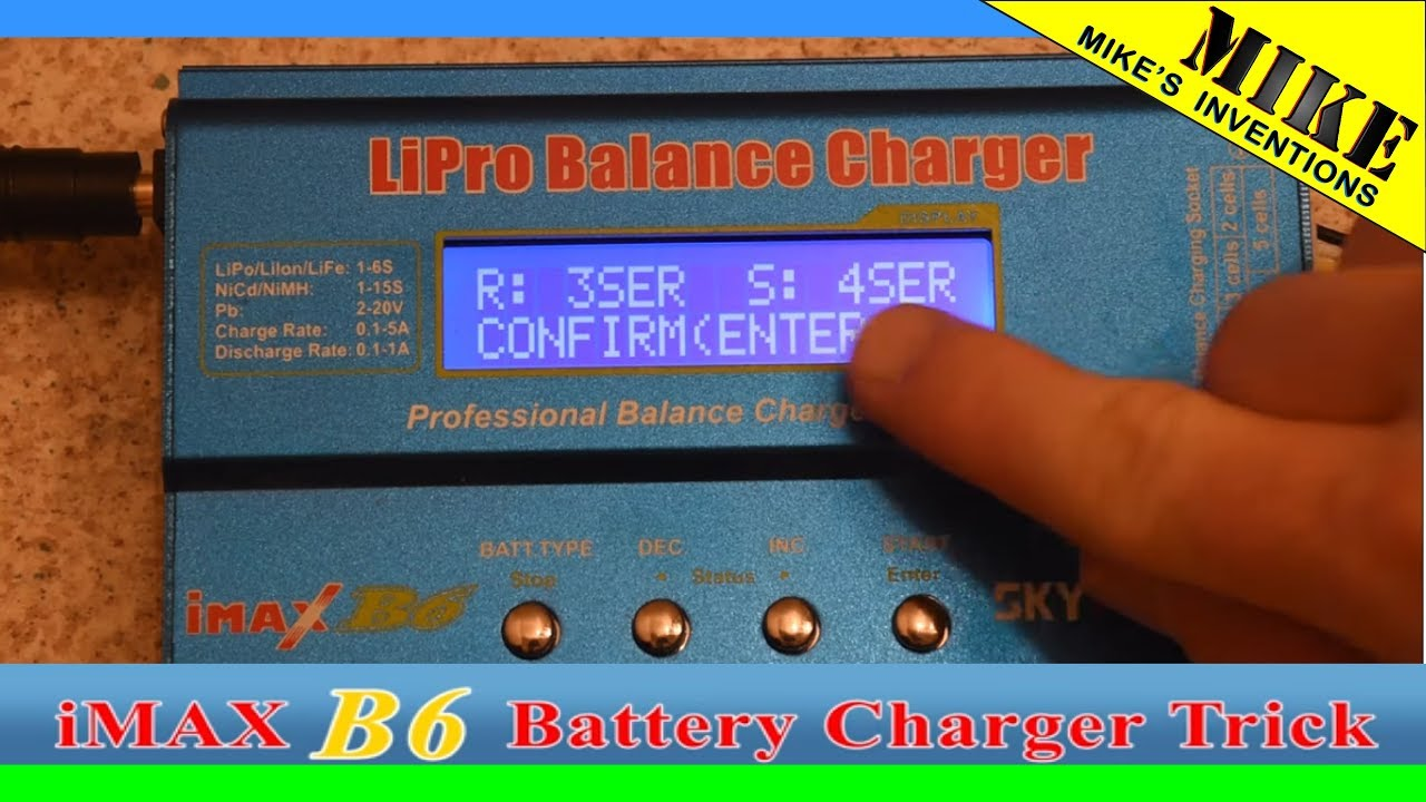 iMax B6 Charger LiPo Cell Error Fix - Mikes Inventions - YouTube