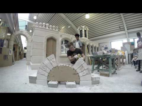 Stone arch building at the Building Crafts College & TCDT 2016