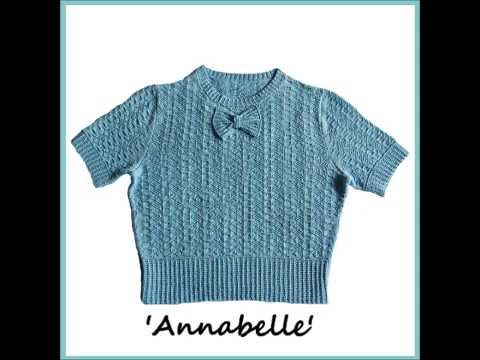 Annabelle Vintage Style 1940s War time Short Sleeved Sweater Size 10 to 12 Ladies UK Petite