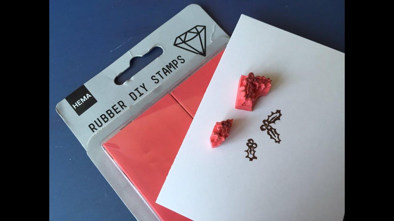 Fabulous Zelf stempels maken: met Rubber DIY Stamps van Hema - YouTube #DR25