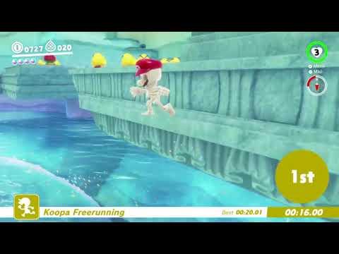 Super Mario Odyssey - Koopa Freerunning Lake Kingdom 19.69