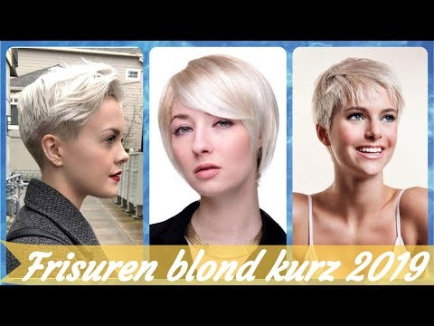 Die Modische 20 Ideen Zu Kurze Blonde Frisuren 2019 Youtube