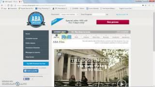 ABA ENGLISH - Website Tutorial