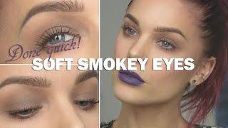 Done Quick- Soft Smokey Eyes - Linda Hallberg makeup tutorials Thumbnail