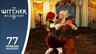 The wooing of Shani - Let's Stream The Witcher III (highlights) #77