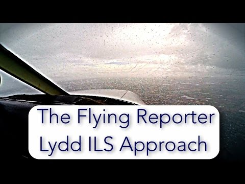 ILS approach practice.  IFR Biggin Hill to Lydd UK in PA28