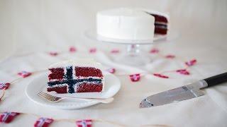How To Make A Norwegian Flag Cake (short Version)