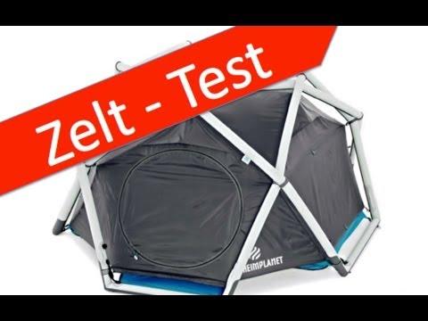 aufblasbare zelte test