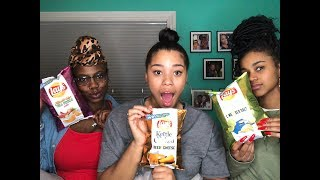 TRYING NEW LAYS CHIP FLAVORS! WITH SPECIAL GUESTS