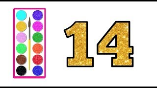 Learn Numbers 1 To 20 - Glitter Numbers Effect - Learn Numbers Glitter Drawing