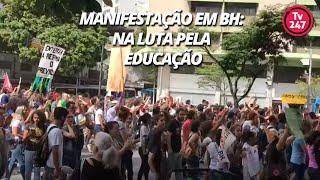 Manifestação em BH: na luta pela Educação
