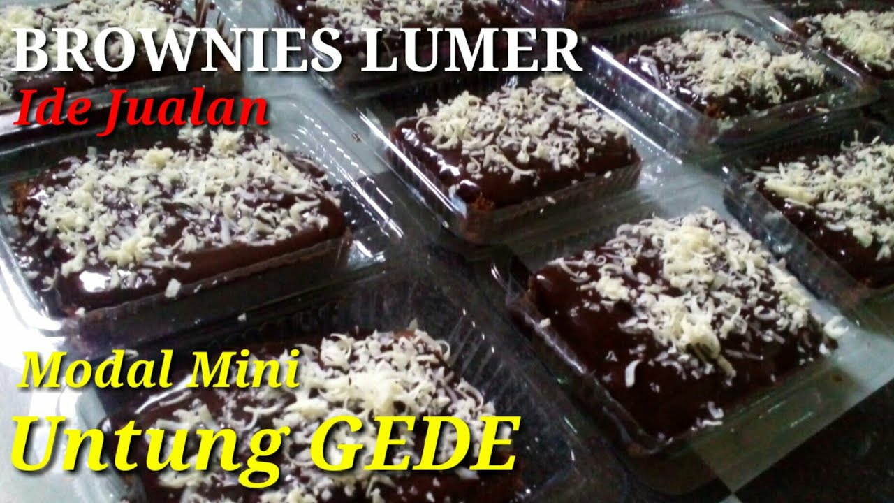 Ide Jualan Kekinian Brownies Coklat Lumer Youtube Food Receipes Brownie Cake Food