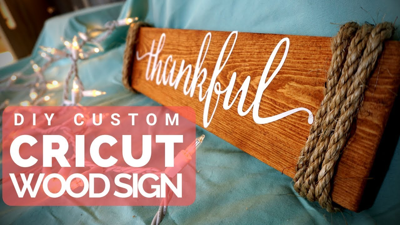How to Make Wood Signs with a Cricut - Craft Tutorial | ICreateCrafts.com