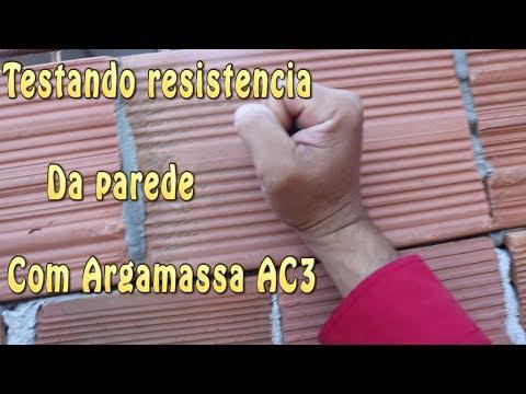 Testando Resistencia da Parede Com Argamassa AC3