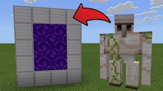 How To Make a Portal to the Iron Dimension in MCPE (Minecraft PE)