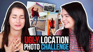 Bilder an den HÄSSLICHSTEN Orten! 😳Wer macht es besser?! Ugly Location Photoshoot Challenge 📸