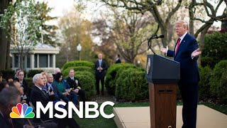 Trump Backs Off Reopening As Nation's Coronavirus Death Toll Nears 3,000 | The 11th Hour | MSNBC
