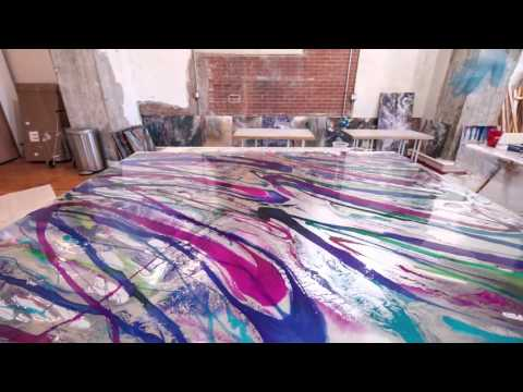 Artist, Holly Voden, Art Resin Time Lapse