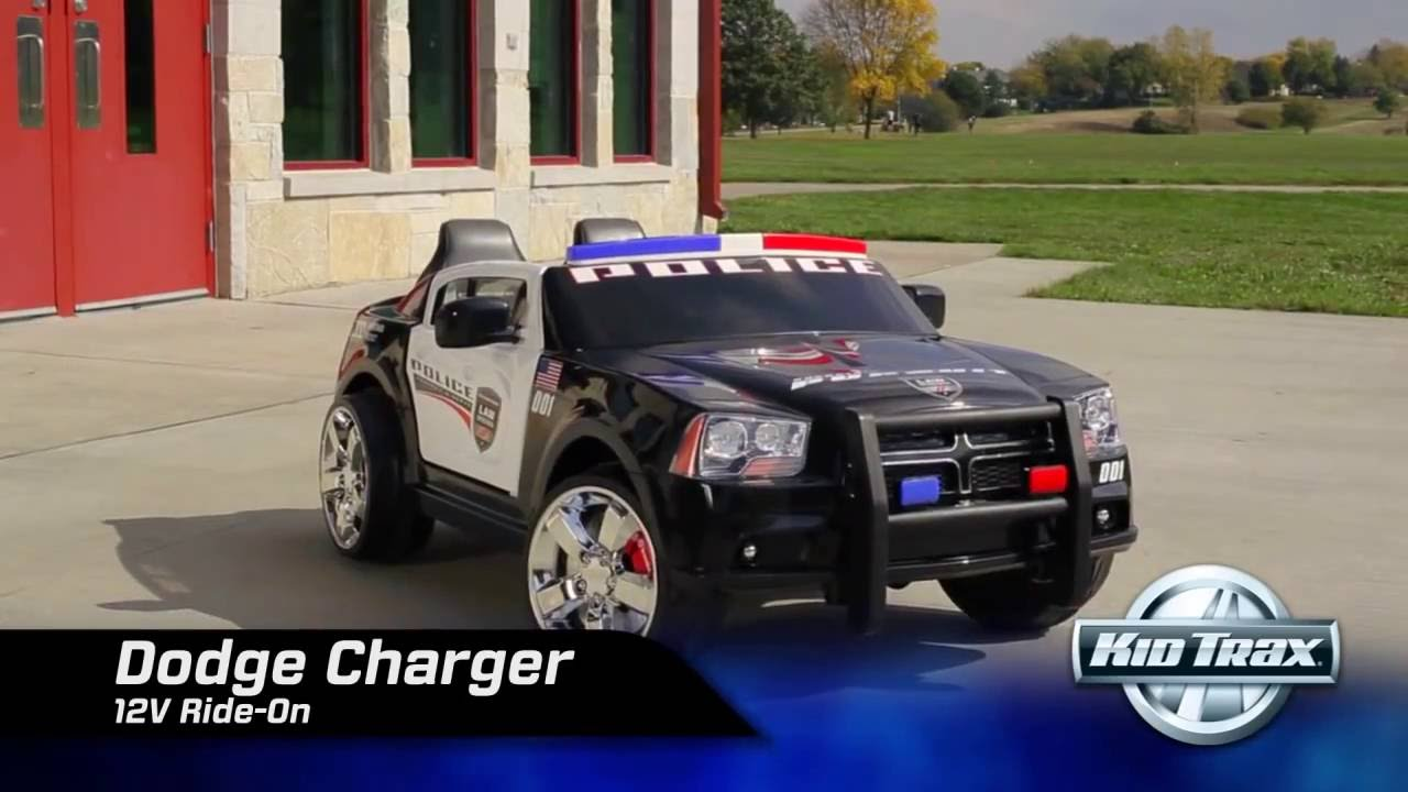 Kid Trax 12 Volt Dodge Charger Police Cruiser Ride On Toy