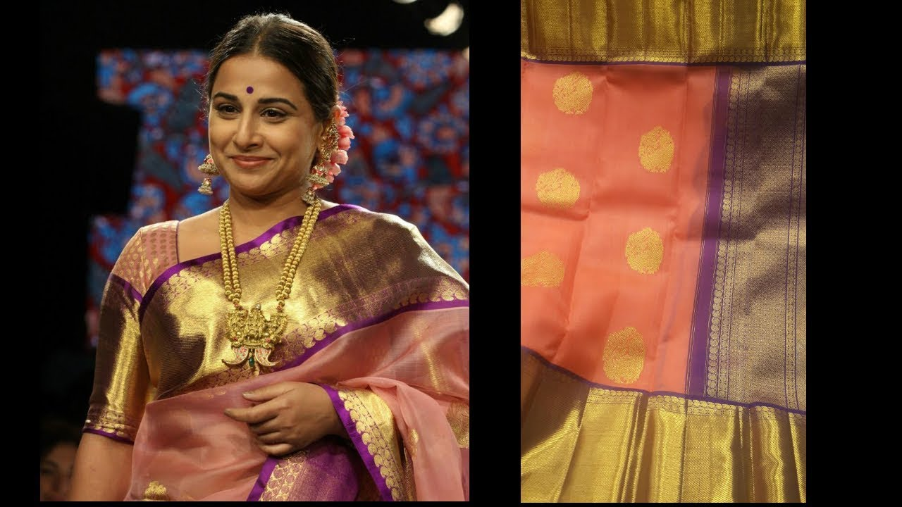 561327d984 Pure Kanchi Organza Sarees with Price(Inside Video) | Vidya Balan Organza  Sarees | Million Designs