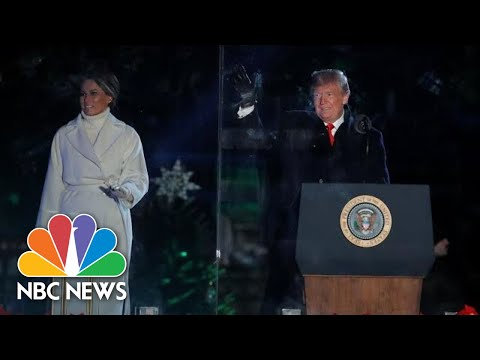 Watch President Donald Trump And First Lady Light The National Christmas Tree | NBC News