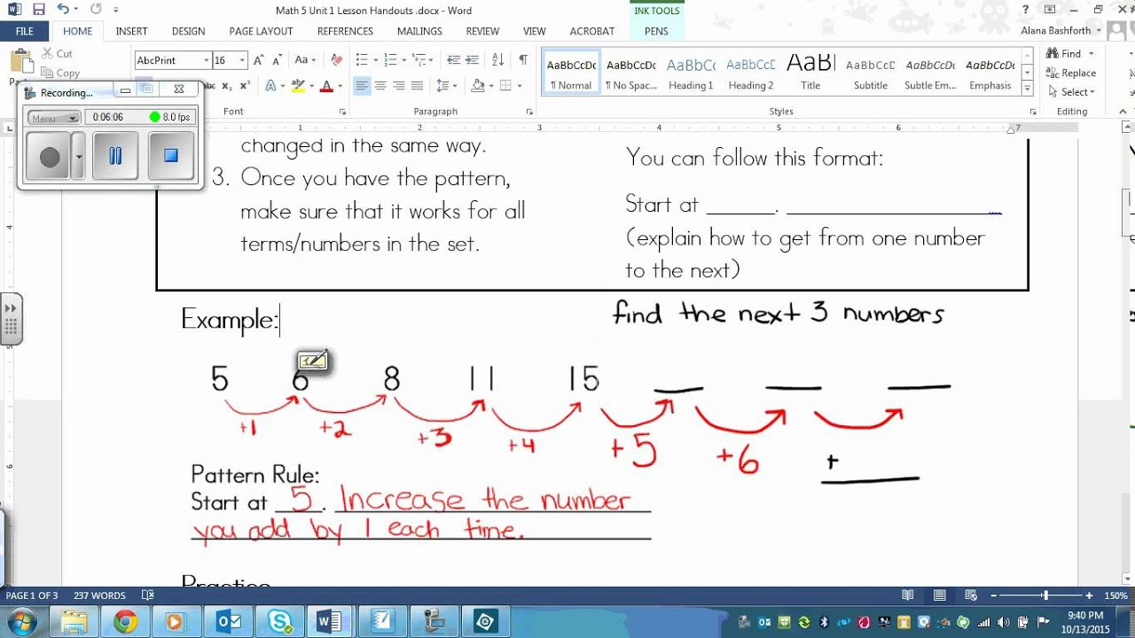 Grade 5 math number patterns and pattern rules youtube robcynllc Image collections