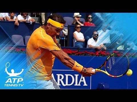 'Perfect' Nadal volley vs Goffin! | Barcelona Open 2018 Semi-Final