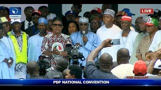 PDP Convention: 'We Cannot Afford To Fail Nigerians', Atiku Charges PDP Leaders