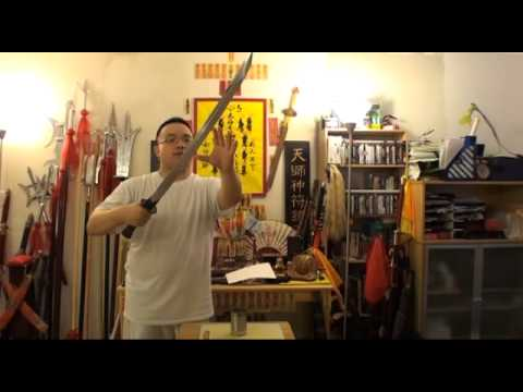 Qing Broadsword (Dao) - Sharpened - Cut and Destruction Test