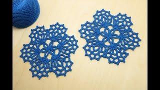 КРУГЛЫЙ АЖУРНЫЙ МОТИВ  вязание крючком мастер-класс crochet round motif