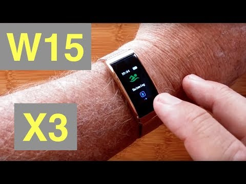 W15 (X3) Color Ladies IP68 Ladies Fitness Band with Metal Bracelet: Unboxing & Review