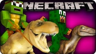 Minecraft - MODDED DINOSAUR RACE - Animal Bikes Mod