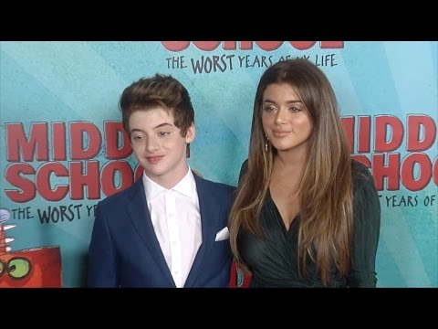 """Thomas Barbusca & Brielle Barbusca """"Middle School: The Worst Years of My Life"""" Premiere Red Carpet"""