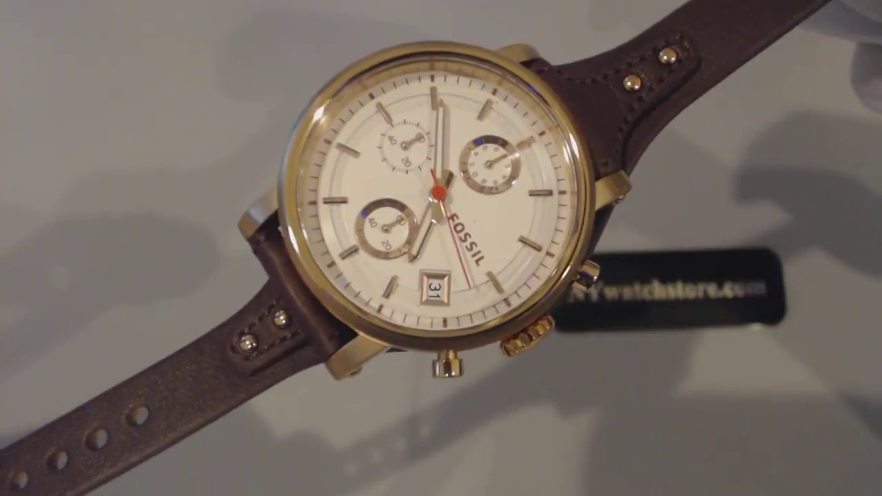 cf2d71ae397 Women s Fossil Original Boyfriend Chronograph Watch ES3616 - YouTube