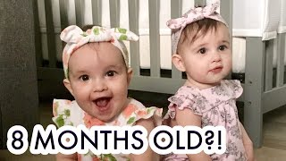OUR TWIN GIRLS ARE 8 MONTHS OLD! /// McHusbands