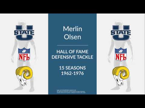 Merlin Olsen: Hall of Fame Football Defensive Tackle