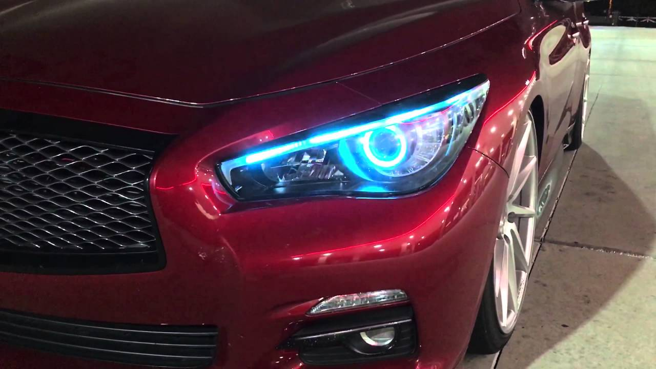 Q50 Custom Headlights Starry Nights Youtube