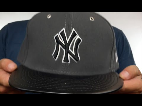 6ce15af29c6 Yankees  METAL HOOK  Grey-Black Fitted Hat by New Era - YouTube