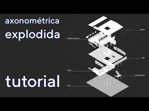 axonométrica EXPLODIDA usando APENAS Sketchup e Photoshop - TUTORIAL thumbnail
