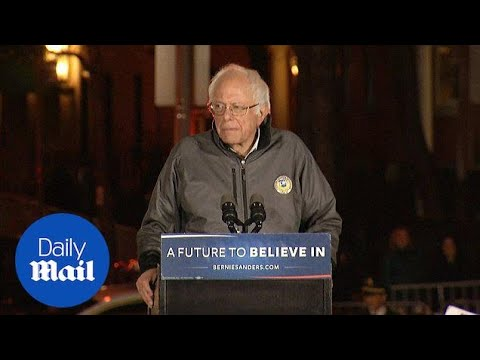 Thousands attend Bernie Sanders' Washington Square Park rally - Daily Mail