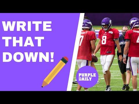 Minnesota Vikinsg NFL Draft predictions - WRITE THAT DOWN