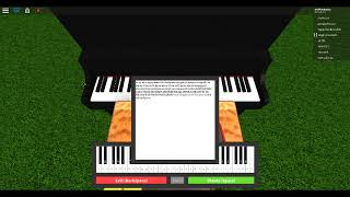 Playing 3 songs on a roblox piano