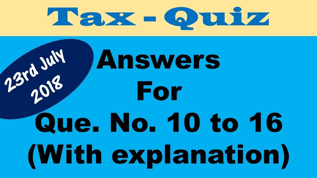 taxation quiz 1 The government provides public goods and services for the community as a whole to pay its bills, the government needs revenue, or a source of income.