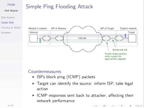 Denial of Service Attacks (ITS335, Lecture 14, 2013)