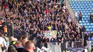 1.FC Magdeburg - Lokomotive Leipzig, Torjubel LOK Fans