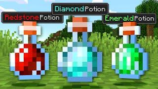 Paso Minecraft pero Los Ores son Pociones OP