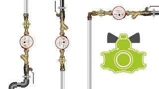 Универсальный фильтр грубой очистки/ universal strainer(Косой и прямой фильтр устанавливать надо строго по потоку воды. При этом, такие фильтры должны висеть строг..., 2016-11-06T16:00:02.000Z)