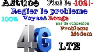 Régler les problèmes (voyant rouge) de connexion sur la 4G LTE