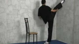 High Side Kick, Power Round House Kick and Side Kick Tutorial Roundhouse Kick High
